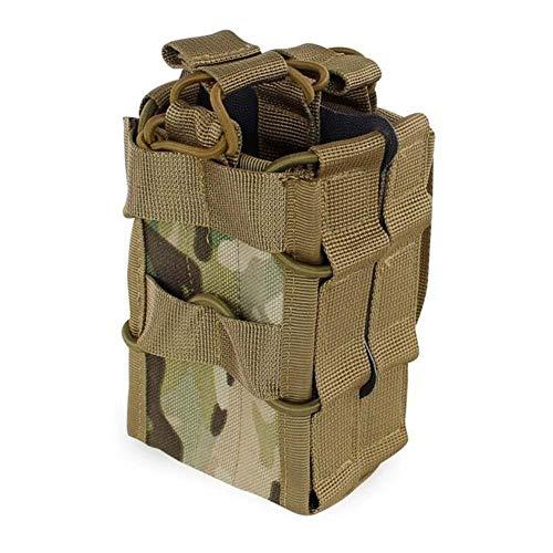 JUNbao-LINyiming-01 Sacs de Rangement Double Couche en Nylon de la Poche du Magazine Molle System Sacs Airsoft Tactique AK AR M4 AR15 Pochette pour Pistolet à Carabine, CP