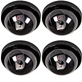 #9: Lifestyle-You 4 Pcs Dummy CCTV Dome Camera With Blinking Red Led Light For Home Or Office Security