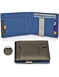 16713e1a81 TwoSteps® Portafoglio Intelligente Uomo Vera Pelle | Porta Carte Di Credito  | Blocco RFID