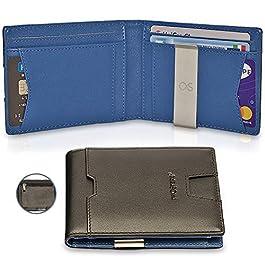bb7ac6e3f3 TwoSteps® Portafoglio Intelligente Uomo Vera Pelle | Porta Carte Di Credito  | Blocco RFID ...