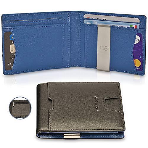 166805db61 TwoSteps Portafoglio Intelligente Uomo Vera Pelle | Porta Carte Di Credito  | Blocco RFID | Clip