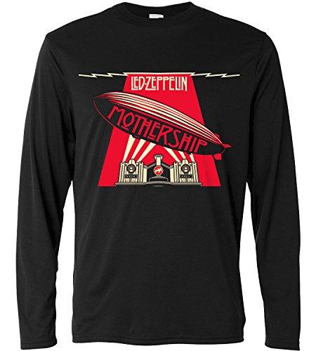 Camiseta de manga larga hombre - Led Zeppelin - Mothership - Long Sleeve 100% algondon LaMAGLIERIA, S, Negro