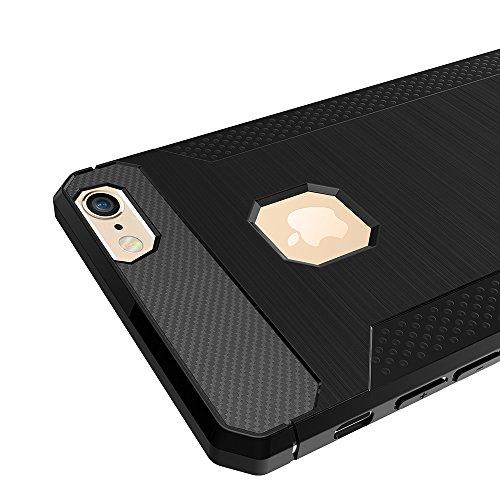 iPhone 6S Plus Coque, Voguecase [Haute Qualité] [Antidéflagrant][Ultra Slim]TPU avec Absorption de Choc, Etui Silicone Souple, Légère / Ajustement Parfait Coque Shell Housse Cover pour Apple iPhone 6  Noir