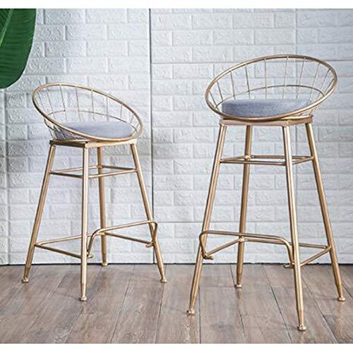 Sgabelli Bar In Ferro.Wjs New Nordic Sgabello Da Bar In Ferro Battuto Oro Sgabello Alto Semplice Sgabello Da Bar In Metallo Color Gold Size L