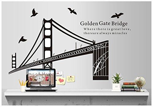 Annedenn Bridge View Szene San Francisco Wand Kunst Aufkleber Aufkleber (Szene Bridge)