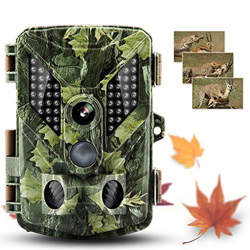 Cámara de caza Trail Wildlife Camera Game Cameras 1080P Cámara de caza Trampa Digital Trail Cámara HD Sensor PIR 90 grados Visión nocturna Cámara salvaje Dispositivo de rastreo al aire libre