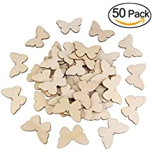 OULII 50pcs farfalla in legno forme artigianali