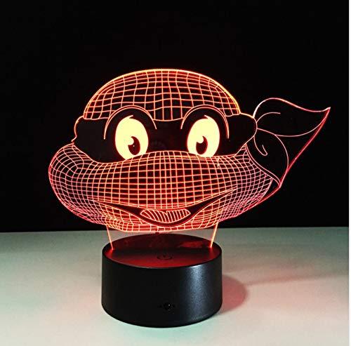 (Mutant Ninja Turtles Led Lampe 7 Farben Ändern Schildkröte Nachtlicht Lampen 3D Touch Nachtlicht Kinder Teenager Geschenk Drop Shipping)