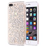 TONGTAIRUI-Cellphone Covers Hermosos Casos y Cubiertas para el iPhone 7 Plus Scattered Platinum Pattern TPU Protective Case para iPhone (Color : Plateado)