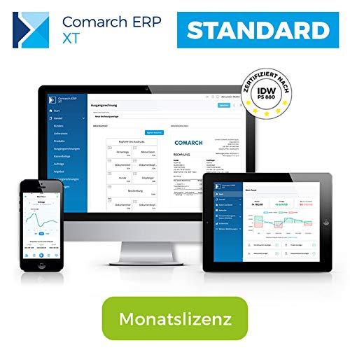 Comarch ERP XT - einfaches Rechnungsprogramm und Lagerverwaltung für Kleinunternehmer, Selbständige, Handwerker, Dienstleister - aus der Cloud - viele Funktionen - Paket STANDARD (Monatslizenz)