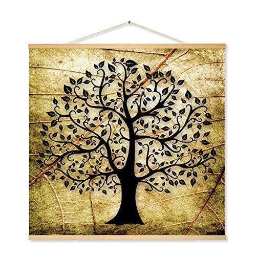 Haiyemao Leinwand Wandkunst Malerei 1 stück Baum Muster Wandbehang Dekorative Gemälde Leinwand Scroll Gemälde Hintergrund Poster Innen D & Eacute; COR Leinwand Gemälde für Heimtextilien geeignet