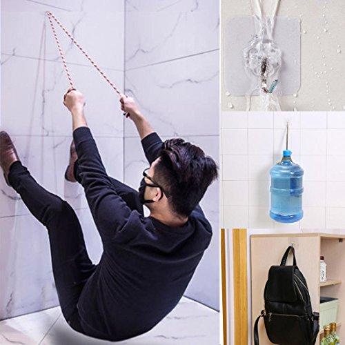 squarex 6x starke transparent Saugnapf Sucker Wandhaken Aufhänger für Küche Badezimmer, plastik, farblos, A:6cmX6cm