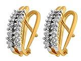 Alysa Brass Hoop Earring For Women Silve...