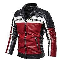 معطف جديد عصري جلدي عالي الجودة للرجال للخريف والشتاء، سترة كاجوال بنمط راكبي الدراجات النارية ورجال الاعمال
