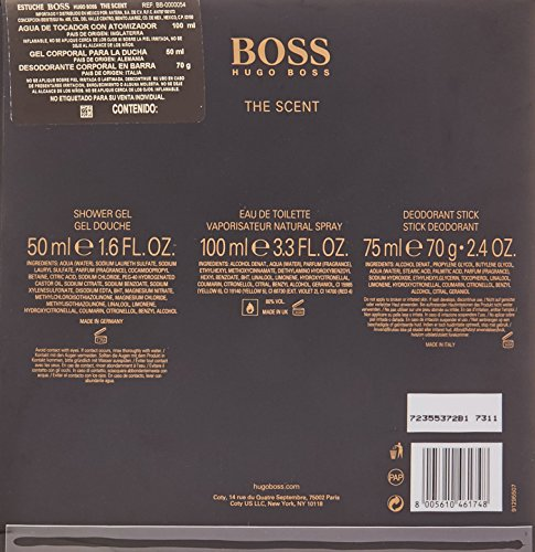BOSS The Scent homme/man Set (Eau de Toilette (100 ml), Duschgel (50 ml), Deodorant Stick (75 ml))