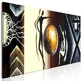 murando - Bilder Abstrakt 150x50 cm - Leinwandbild - 1 Teilig - Kunstdruck - Modern - Wandbilder XXL - Wanddekoration - Design - Wand Bild - Braun Beige Gold a-A-0353-b-a