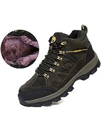 QLFENG Homme Chaussures de Randonnée Imperméable Lacées Plates Confortable et Respirant Printemps-eté Automne-Hiver