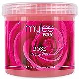 Mylee Cera De Rosa Suave en Crema para Pieles Sensibles 450g, Pote de Crema Depilatoria para Eliminar Vello,...