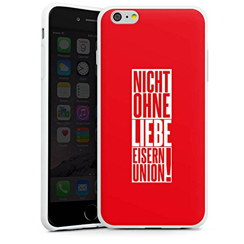 Apple iPhone X Silikon Hülle Case Schutzhülle 1. FC Union Berlin Fanartikel Fußball Silikon Case weiß