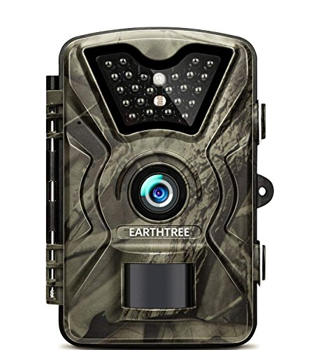 EARTHTREE Wildlife Trail Camera 14MP 1080P HD Hunting Game Camera with 940nm IR LEDs Night Vision 2.4'' LCD Display Scouting Camera with IP66 Waterproof Test