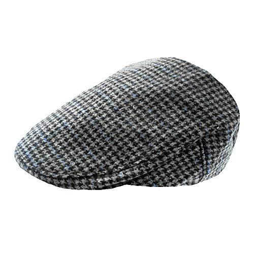 028a92dde4 TOSKATOK Mens Tweed Flat Caps-SMOKE-LXL