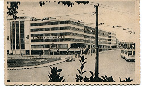 1937-venezia-piazzale-roma-motta-agip-auto-depoca-radiale-p-b-n-vg-anim-cartolina-postale