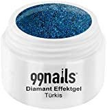 99nails Diamant Effektgel - Türkis, 1er Pack (1 x 5 ml)