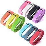"""XCSOURCE Remplacement Rechange de bande de bracelet Wrist band avec fermoir pour Fitbit Flex Activité 10pcs et couleurs Size: L(6.4"""" - 8"""") TH066"""