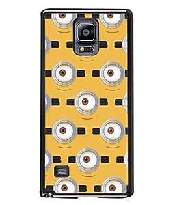 PrintVisa Designer Back Case Cover for Samsung Galaxy Note 4 :: Samsung Galaxy Note 4 N910G :: Samsung Galaxy Note 4 N910F N910K/N910L/N910S N910C N910Fd N910Fq N910H N910G N910U N910W8 (Eyes Design In Yellow)