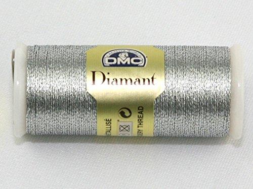 DMC Diamant Métallique fil à broder 35 m - Couleur D415 (Argent)