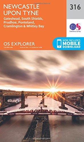 Newcastle Upon Tyne 1 : 25 000 (OS Explorer Active Map)