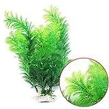 Decorazione artificiale per acquario, in plastica, pianta acquatica