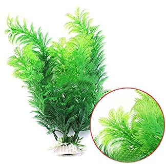Phoenix B2C UK Artificial Fish Tank Aquarium Decoration Green Plastic Underwater Grass Plant 14