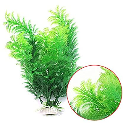 Phoenix B2C UK Artificial Fish Tank Aquarium Decoration Green Plastic Underwater Grass Plant 1