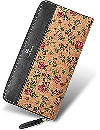 Cork Purse, Shinmax Zip Purse Slim Vintage Super Lightweight Natural Vegan Cork Wallet For Women&Men (7.483.940.79Inch...