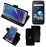 K-S-Trade® Case Schutz Hülle kompatibel mit Crosscall Action-X3 Handyhülle Flipcase Smartphone Cover Handy Schutz Tasche Bookstyle Walletcase schwarz (1x)