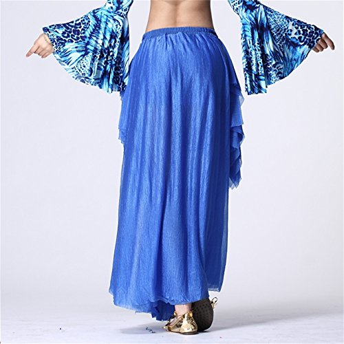 Damen Tanzkleidung r Long Bauchtanz Rock Tribal Side Slit Bauchtanzrs Tanzen Kost¨¹me Dark Blue