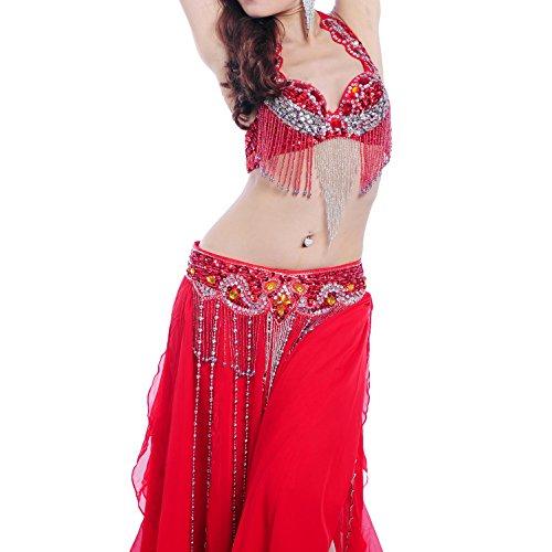 MoLiYanZi 9 Farben Belly Dance Performance Kostüm Beaded -