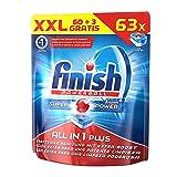 Finish Calgonit All in 1 Plus, Spülmaschinentabs, XXL Vorteilspack, 63 Tabs (3 Stück gratis)
