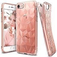 Custodia iPhone 7, Ringke [AIR PRISM] 3D Design contemporaneo ed elegante e ultrasottile ed elegante geometrico Disegno flessibile pieno-corpo protettivo testurizzata TPU resistente alle cadute coprire per Apple iPhone 7 - Rose Gold
