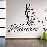 stickers muraux 3d new york Manucure salon de beauté salon de manucure main fille visage coiffeur coiffure