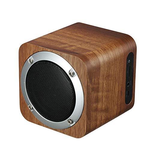 LIANGMENGJIN Stilvolle Retro-Holz-Bluetooth-Lautsprecher aus Holz Radio Vibrierenden Woofer Box, 10 × 10 × 10 cm, 2 Dual-woofer-box