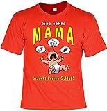 Witziges Sprüche Fun T-Shirt : Eine echte Mama braucht keinen Schlaf!