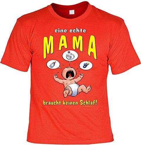 Lustiges T-Shirt für die Mama mit Urkunde eine echte Mama braucht keinen  Schlaf!