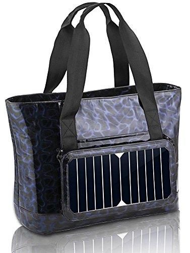Solar Ladegerät Rucksack 6,5 Wände Solarpanel Tasche für Smart Handys und Tablets, GPS, eReader, Bluetooth-Lautsprecher, Gopro Kameras Lila