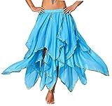 Bauchtanz Rock Frauen Orientalisches Kostüm Blau
