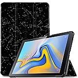 IVSO Hülle für Samsung Galaxy Tab A 10.5 SM-T590/T595, Slim Schutzhülle mit Auto Aufwachen/Schlaf Funktion Perfekt Geeignet für Samsung Galaxy Tab A SM-T590/SM-T595 10.5 Zoll 2018, Ink Constellation
