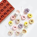 HENGSONG 18 Grids Mini Doughnut Formen Runde Buscuit Kuchen Form für DIY Backen