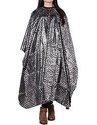 Anself Delantal de peluquería vestido antiestático de salón en corte de cabello de nilón paño