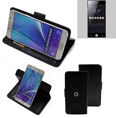 K-S-Trade® Case Schutz Hülle Für -ID2ME ID1- Handyhülle Flipcase Smartphone Cover Handy Schutz Tasche Bookstyle Walletcase Schwarz (1x)
